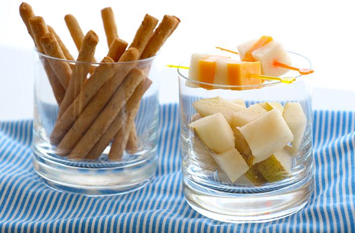 Einfacher Käse-Birnen Snack