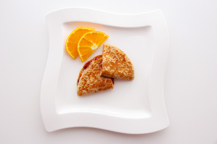 Crepes mit Bohnen Käse Füllug