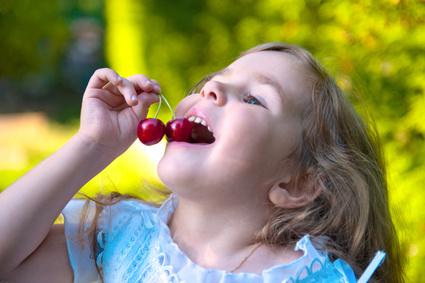 Kirschen essen