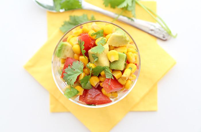 Maissalat mit Avocado