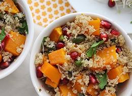 Kürbis Quinoa Salat