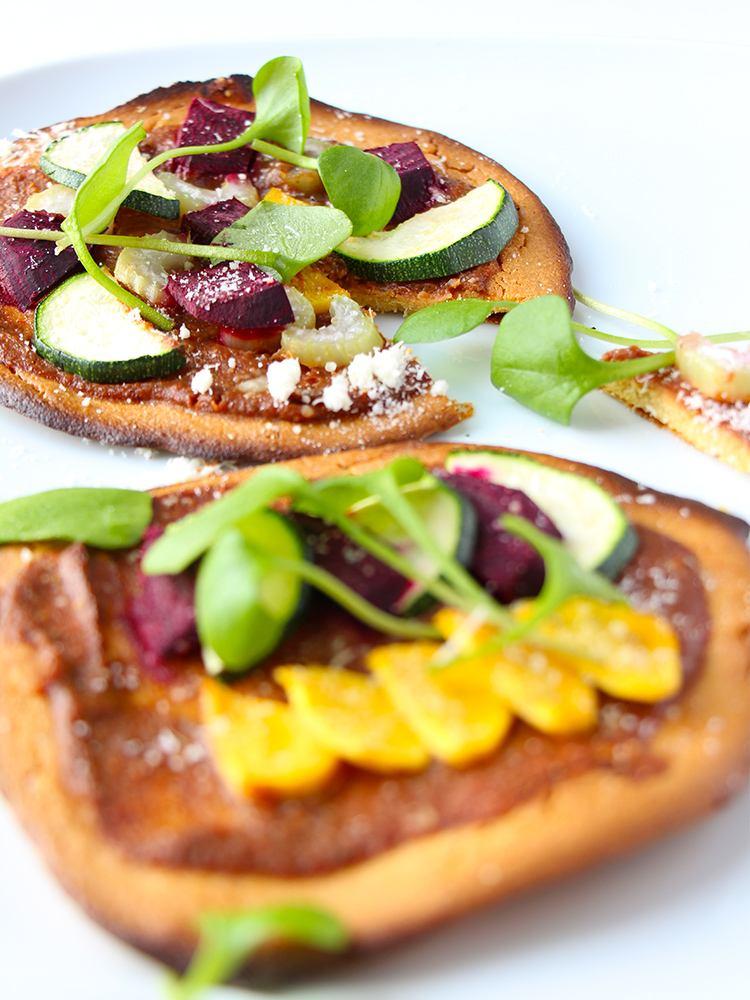 Pizza-aus-Kichererbsenmehl