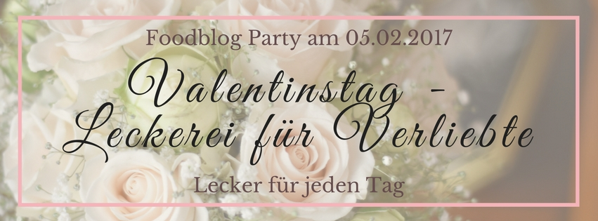 Foodblog Party Valentinstag Banner
