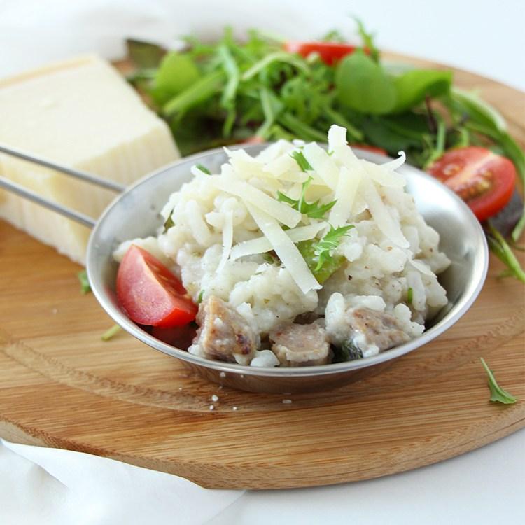 Risotto-mit-Salsiccias-und-Tomaten
